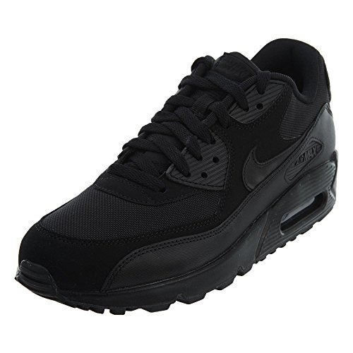 NIKE Mens Air Max 90 Essential Running Shoes Black/Black 537384-090 Size 9.5 ()