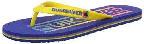 Quiksilver Molokai Wordmar M Sndl Xbyb - Sandalias para hombre Azul - Bleu (Blue/Yellow/Blue)