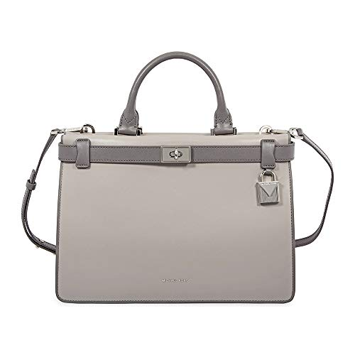 Michael Kors Tatiana Medium Leather Satchel GREY MULTI ()