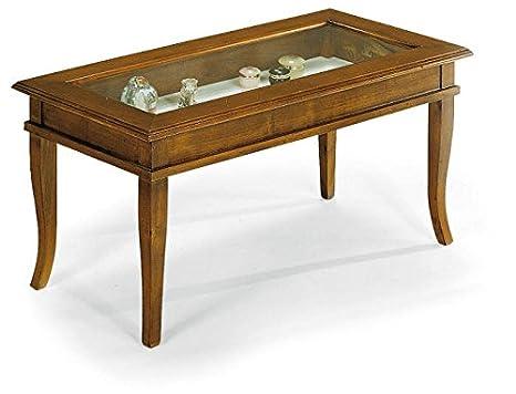 Tavolini Da Salotto Classici Prezzi.Lo Scrigno Arredamenti Tavolino Rettangolare Da Salotto Classico Con Vetro W63 N