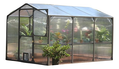 Bronze Greenhouse (Montecito Greenhouse Complete Package (9Wx12L, Bronze))
