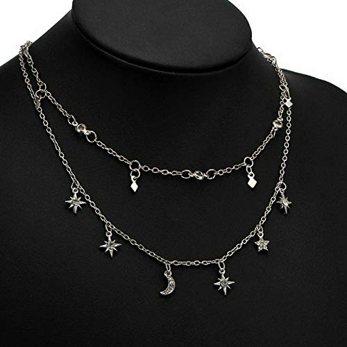 - Waldenn Fashion Women Multilayers Crystal Pendant Necklace Choker Collar Chain Jewelry | Model ERRNGS - 12914 |
