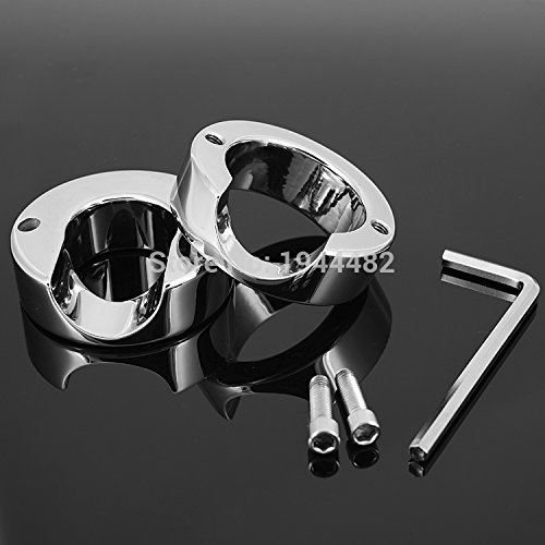 ccTina Stainless Steel Penis Delay Ring Metal Ball Weight Scrotum Ring Locking Cock Ring Ball Stretchers For Men Testicular Restraint 1pcs by ccTina