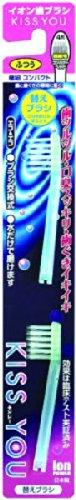 キスユー イオン歯ブラシ 極細コンパクト ふつう 替えブラシ 2本 ※色は選べません(KISS YOU ブラシ交換式のハブラシ 極細毛)×120点セット (4969542142509) B00SB68CNM   120個