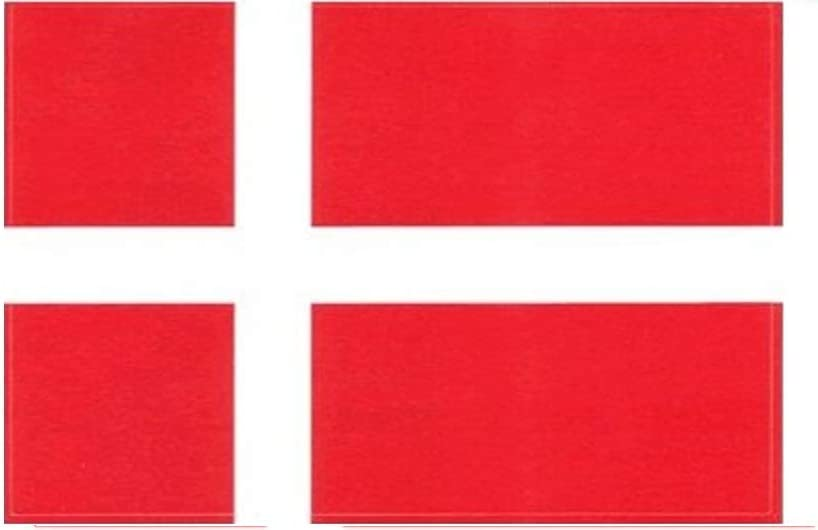 Truck Or Boat 3 /½ x 5 Denmark Flag Decal For Auto High Gloss UV Coated Laminate Water Proof Sticker DECAL