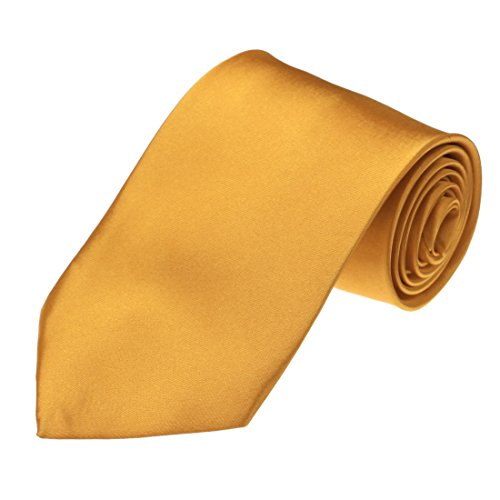 DAA3E01S Gold Solid Woven Microfiber Tie Italian Design Tie Factory For Presents By Dan Smith