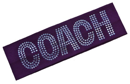 COACH Rhinestone Cotton Stretch Headband (Maroon)