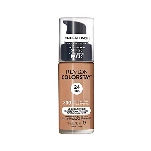 Revlon ColorStay Liquid Foundation For Normal/dry Skin, SPF 20, Natural Tan, 1 Fl Oz