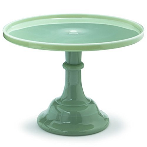 - Mosser Glass 12 Footed Cake Plate - Jade by Mosser Glassware