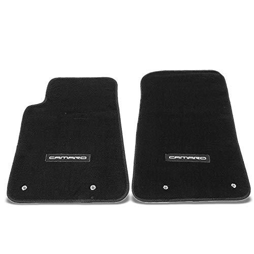 UrMarketOutlet NRG Innovations Camaro Logo Front Black Floor Mats Carpet Pads for 10-15 Camaro (FMR-901)