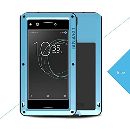 buy popular 6e168 ed79a Sony Xperia XZ Premium Waterproof Case, Love Mei Armor Tank Shockproof  Dust/Dust / Snowproof Aluminum Gorilla Glass Heavy Duty Cover for Sony  Xperia ...