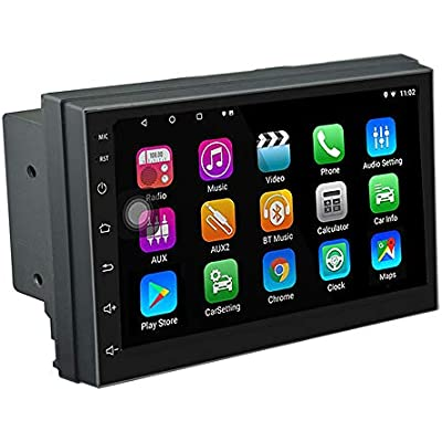 LEXXSON Android Car Stereo Din with GPS Navigation Bluetooth inch Touch Screen  Android 8 1 Car Radio Multimedia Player  Support Mirror Link WIFI USB RDS AUX Subwoofer DAB