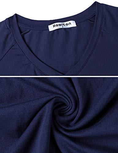 Ensemble T Vêtements Pyjama Pcs 2 Pantalon En Bottom Femme Manches Avec Navy Coton shirt De Aibrou Et Top Nuit 8qwRABxf5