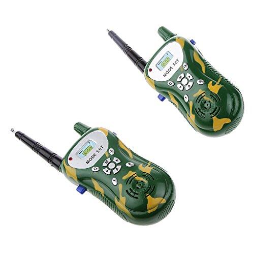 2pcs Talkie Walkie à 2-ways Radio Contrôle Enfants Jouet électronique 50m Gamme Interphone #1