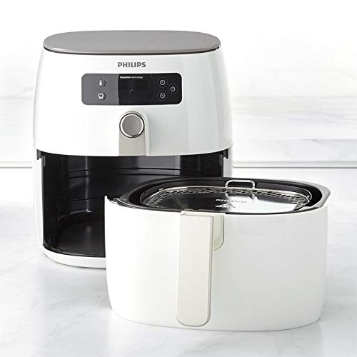 Philips TurboStar Technology Airfryer, Digital Interface, 1.8lb/2.75qt (White)