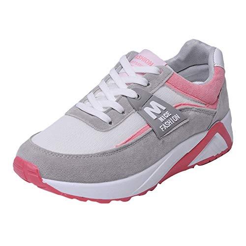 5 Deportivas Otoño De Sylar Gruesa Running 40 Planas Zapatillas Zapatos Aumento Cordones Rosa Venta 5 Mujer Suela 36 Cosiendo TqA58w0q