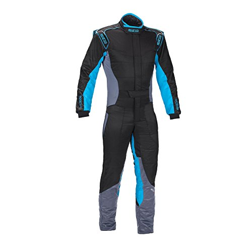 Sparco KS-5 Karting Suit (Red/White/Black, Small) ()