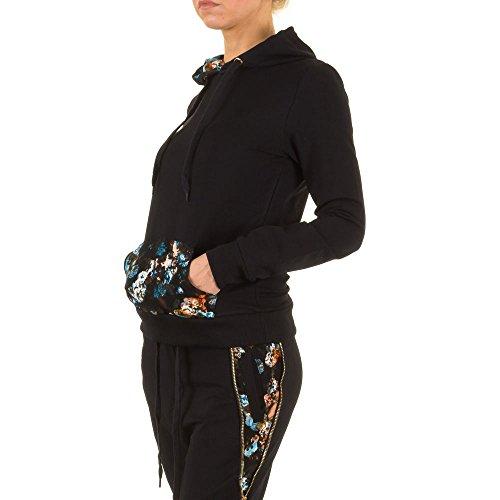 Kapuzen Sweatshirt Für Damen , Schwarz In Gr. S bei Ital-Design