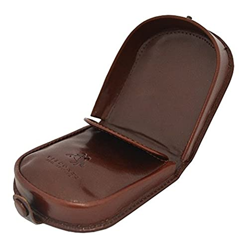 Visconti Polo T-5 Brown Soft Leather Coin Purse Pouch Tray/Change Holder (Brown)