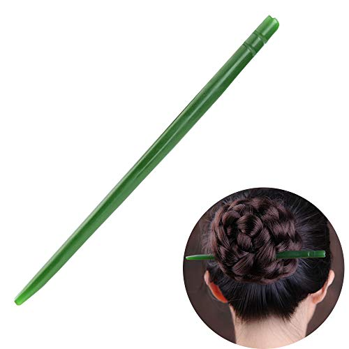 (TOP SEWING Hetian Jade Hair Stick Women Girl Retro Hairpins Chinese Traditional Hair Chopsticks for Party Daily in Gift Box Green )