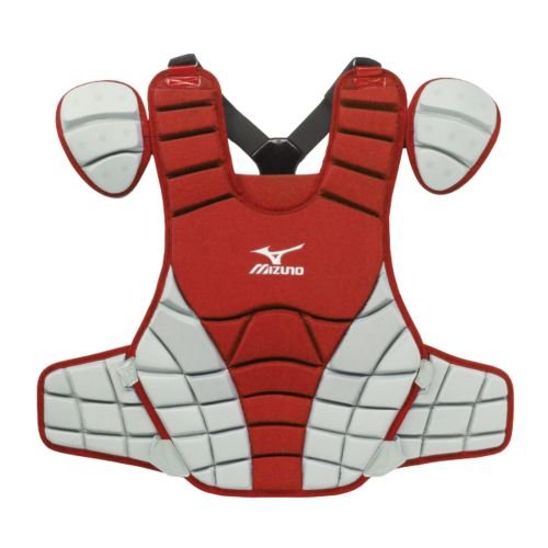 Mizuno G3 Samurai Chest Protector, 16-Inch, Red/Grey