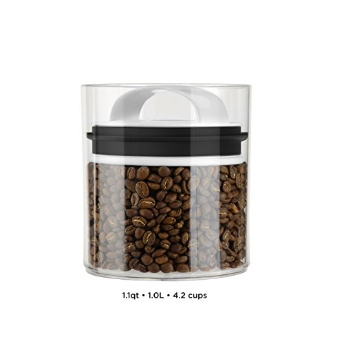 Fresh Short (Evak Fresh Airless Storage Canister, Patented & Designed in USA, Medium/Short (33.6 Ounce, 4.2 Cup Capacity))