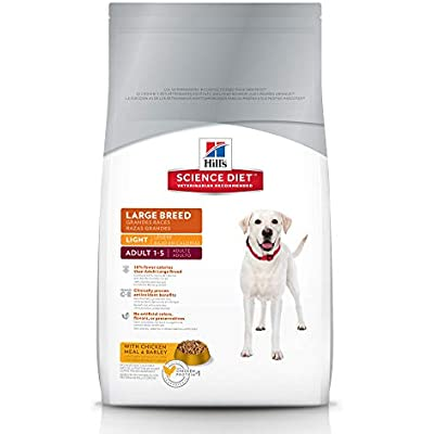 Hill's Science Diet Dry Dog Food, Adult, Large Breed, Light, Chicken Meal & Barley Recipe