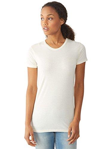 White Basic Crewneck T-Shirt - 7