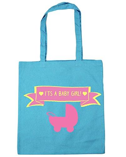 HippoWarehouse se trata de un bebé niña Tote Compras Bolsa de playa 42cm x38cm, 10litros azul (Surf Blue)
