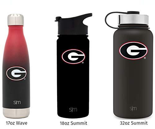University Bulldogs Football - Simple Modern 32oz Summit Water Bottle - Georgia Bulldogs Vacuum Insulated 18/8 Stainless Steel Travel Mug - Georgia