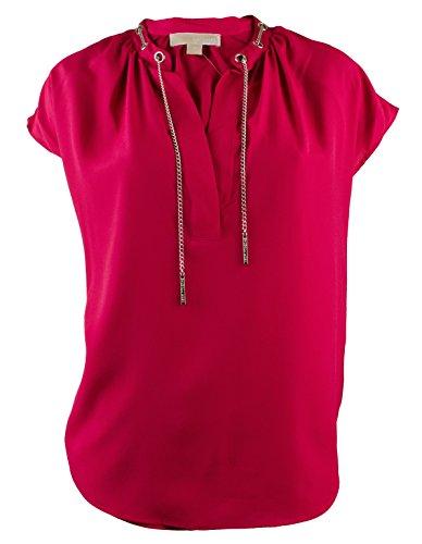 Michael Kors Women's Plus Chain Lace Split Neck Blouse Top -SP-0X