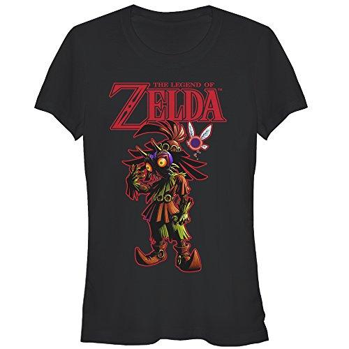 (Nintendo Juniors' Legend of Zelda Skull Kid's Mask Black T-Shirt)