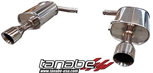 Tanabe :: T70130A, 11-13 Infiniti G25 Sedan 11-13 Infiniti G25x Sedan 07-08 Infiniti G35 Sedan and 09-11 Infiniti G37 Sedan Medalion Touring Cat Back Exhaust System Dual Muffler Axle Back