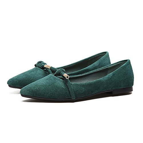 satin L'anti Xue femmina piatta scarpe luce bassa delle calci punta calzature quattro piatta Il con verde calzature singolo scarpe Qiqi donna di peddling f4EwqEx5nA