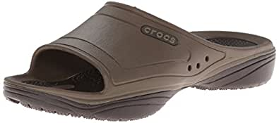 crocs Unisex MODI 2.0 Slide Flip-Flop, Walnut/Espresso, 4 M US