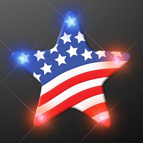 - Light Up US Flag Star Flashing Blinking LED Body Light Lapel Pins (25-Pack)