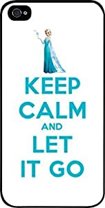 Keep Calm and Let It Go-Elsa-Hard Black Plastic Snap - On Case -Apple Iphone 6 ONLY- Great Quality!