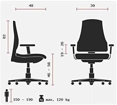 HJH Office 729250Chaise de gaming / chaise de bureau, League Pro, tissu en cuir synthétique, noir / blanc