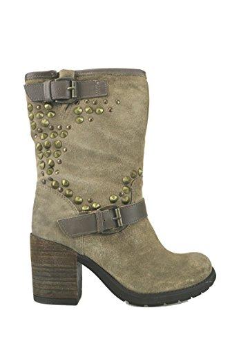 Keys Zapatos Mujer Botines Beige Gamuza AJ122 (41)