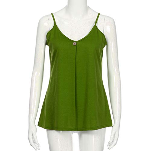 T raccolto per Tank shirt spalle delle verde le maniche canotte sexy camicetta donne donne Canotte Top le Esailq senza E6qxUB