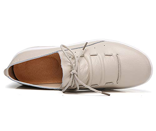Zapatos Cuña Deporte Beige Fitness Transpirable Deportes Caminar Sneakers lovejin Mujer Libre Aire al Zapatos Adelgazar Sneakers Plataforma Zapatos qYIwX