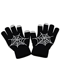 Knit Thermel Noctilucence Touch Gloves(Spider Web(Noctilucence))