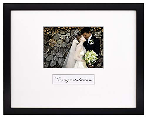- Golden State Art, 11x14 Wedding Wood Wall Frame for 5x7 Picture with Signature Mat, Black