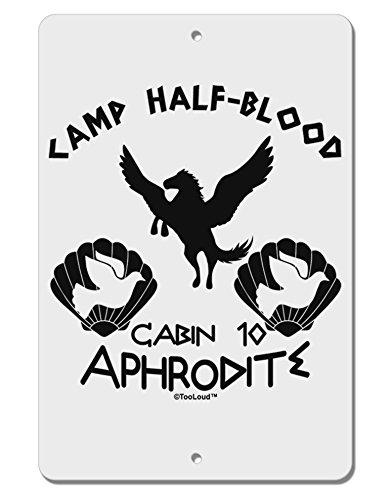[TooLoud Cabin 10 Aphrodite Camp Half Blood Aluminum 8 x 12