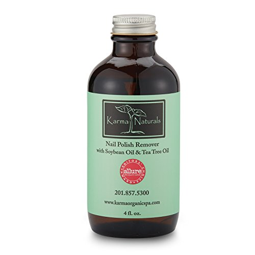 Karma Naturals Nail Polish Remover with Soybean Oil & Tea Tree Oil, 4 fl.oz.