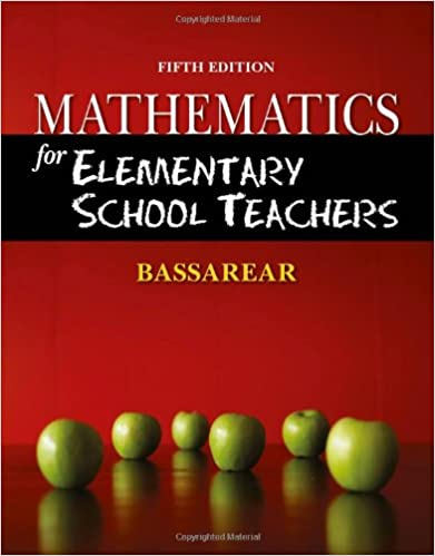 Mathematics For Elementary School Teachers Tom Bassarear