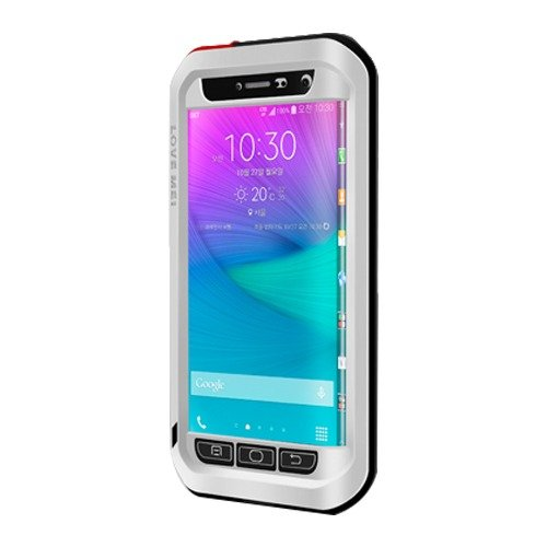 Love Mei Shockproof Water Resistant Dust/Dirt/Snow Proof Aluminum Metal Heavy Duty Protection Case Cover for Samsung Galaxy Note Edge N9150 Silver (Galaxy Note Edge Metal Case compare prices)