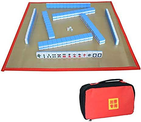 Mahjong Chino 1.2 Sobresaliente Mahjong Acrílico, Juego de Viaje Portátil Mahjong con 144 Azulejos, Fiesta Mahjong Juegos de Mesa Tradicionales, Adecuado Para Regalos de Los Jóvenes Para Mamá: Amazon.es: Juguetes y juegos