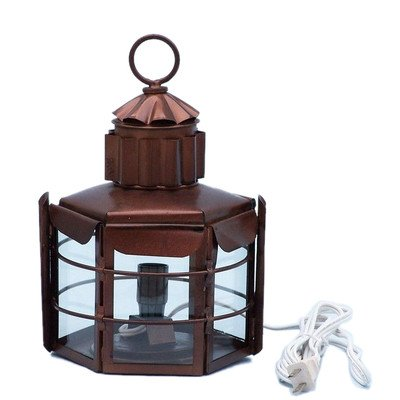 Clipper Electric Lamp Size: 15″ H x 9″ W x 8.5″ D, Finish: Antique Copper