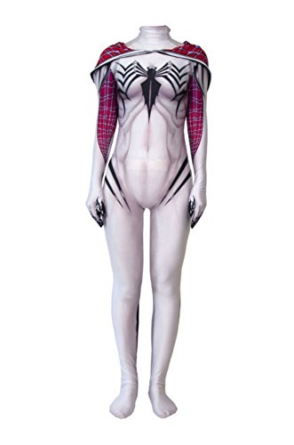 (idea cosplay Women Spider Girl Bodysuit Spider Cosplay Costume Suits (M (Height 63in),)